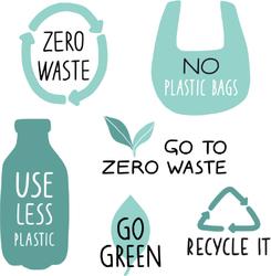 Zero Waste Life Slogan Sticker