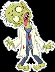 Zombie Doctor Sticker