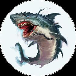 Zombie Monster Shark Sticker