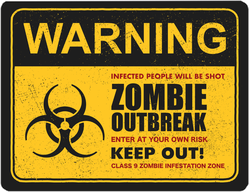 Zombie Outbreak Keep Out Sticker