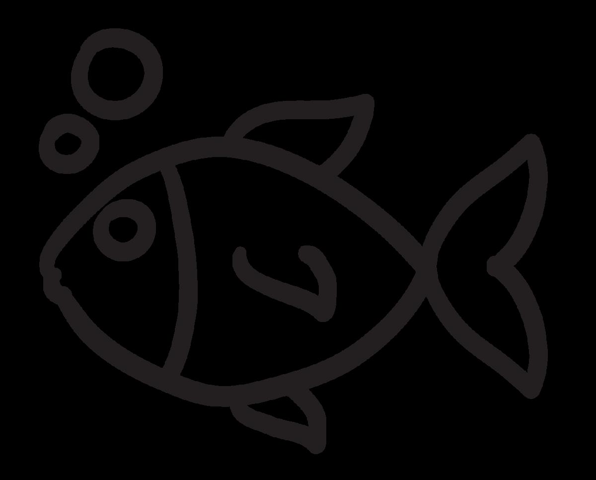 Small Fish and Bubbles Sticker