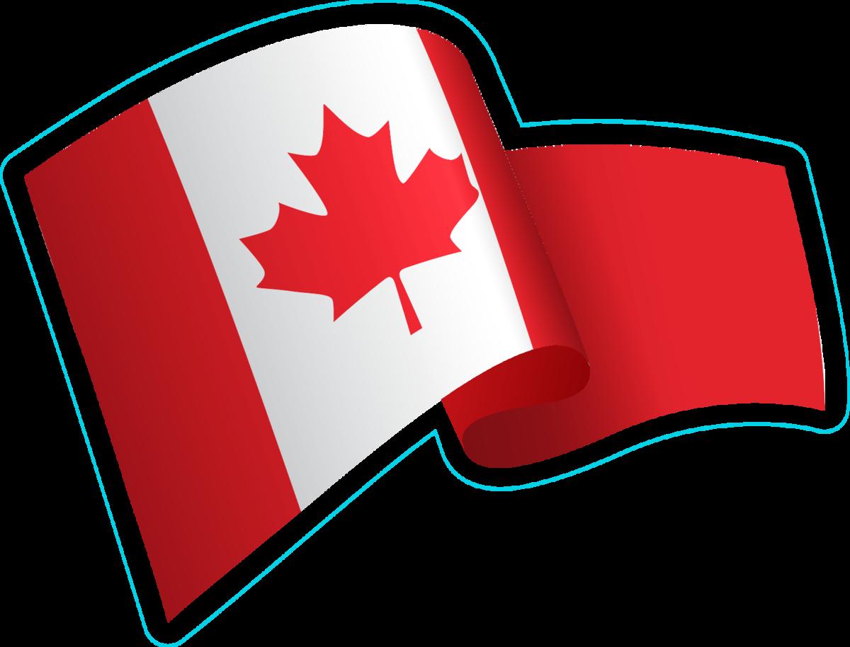 Waving Canadian Flag Sticker