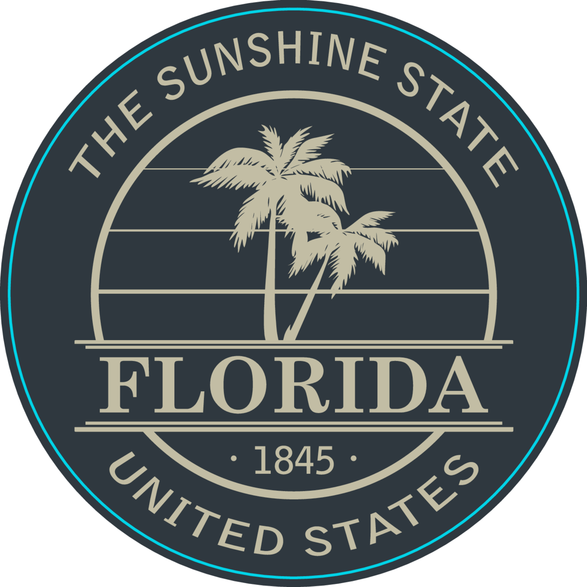 Florida The Sunshine State Sticker
