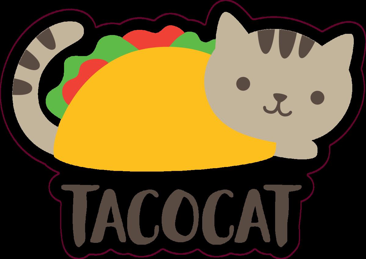 Cute Taco Cat Sticker