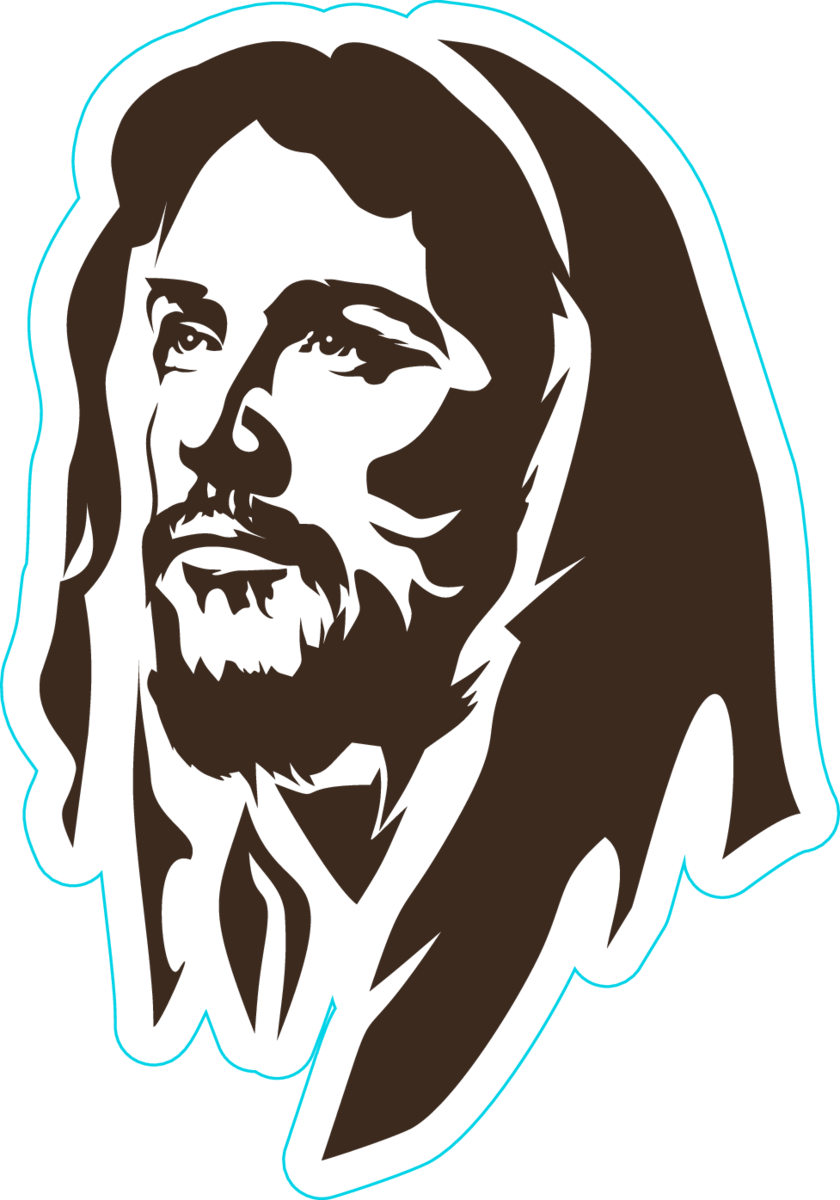 Face of jesus sticker
