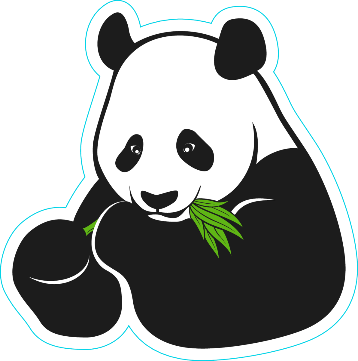 Eating panda sticker