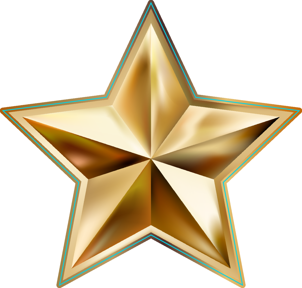 Gold Star Badge Sticker