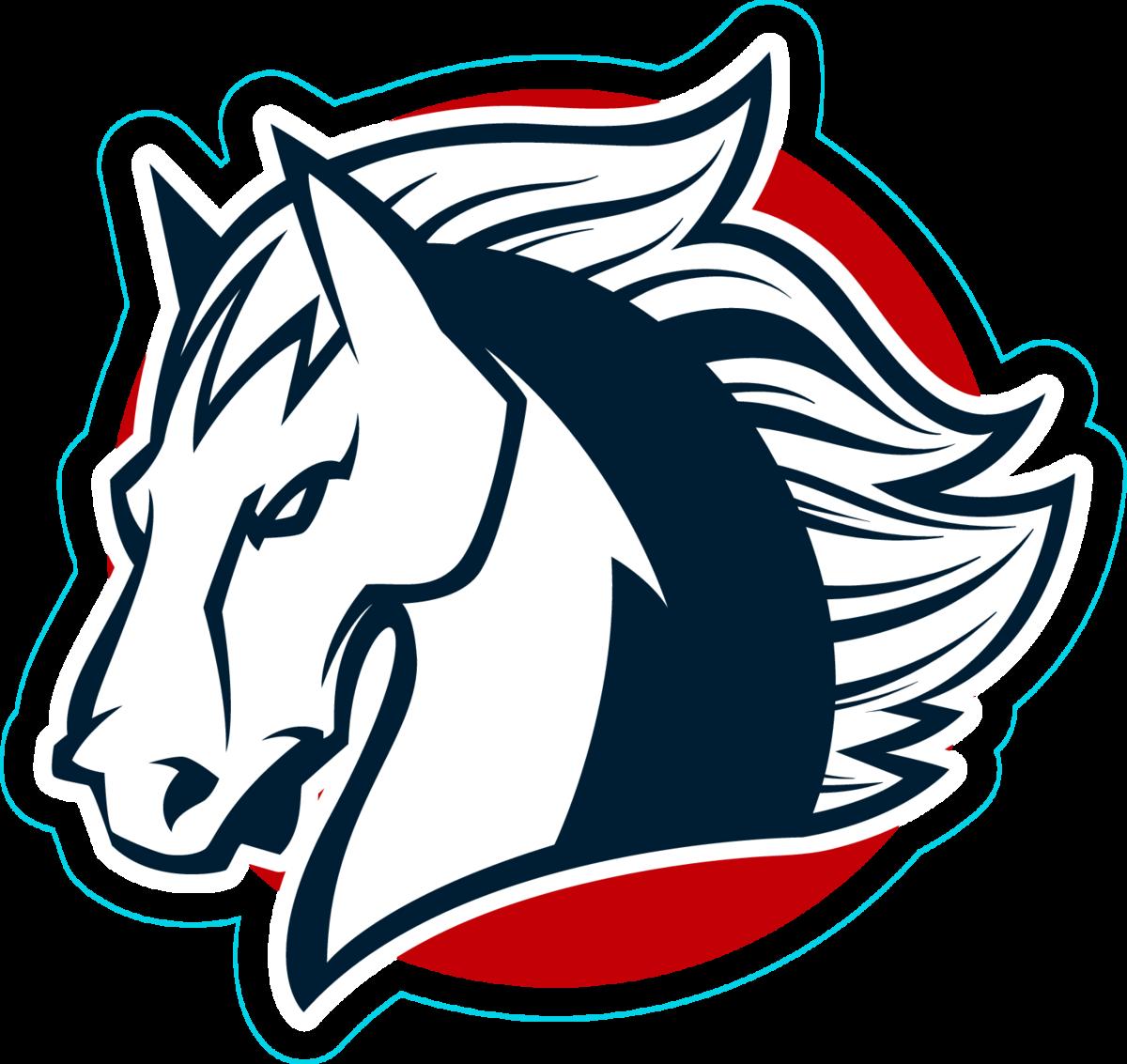 American Horse Head Mascot Sticker