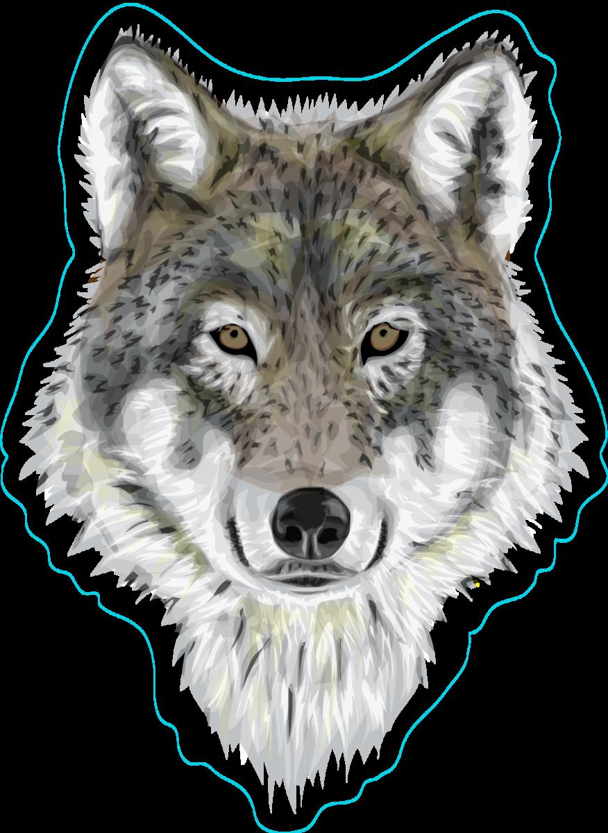Realistic wolf sticker
