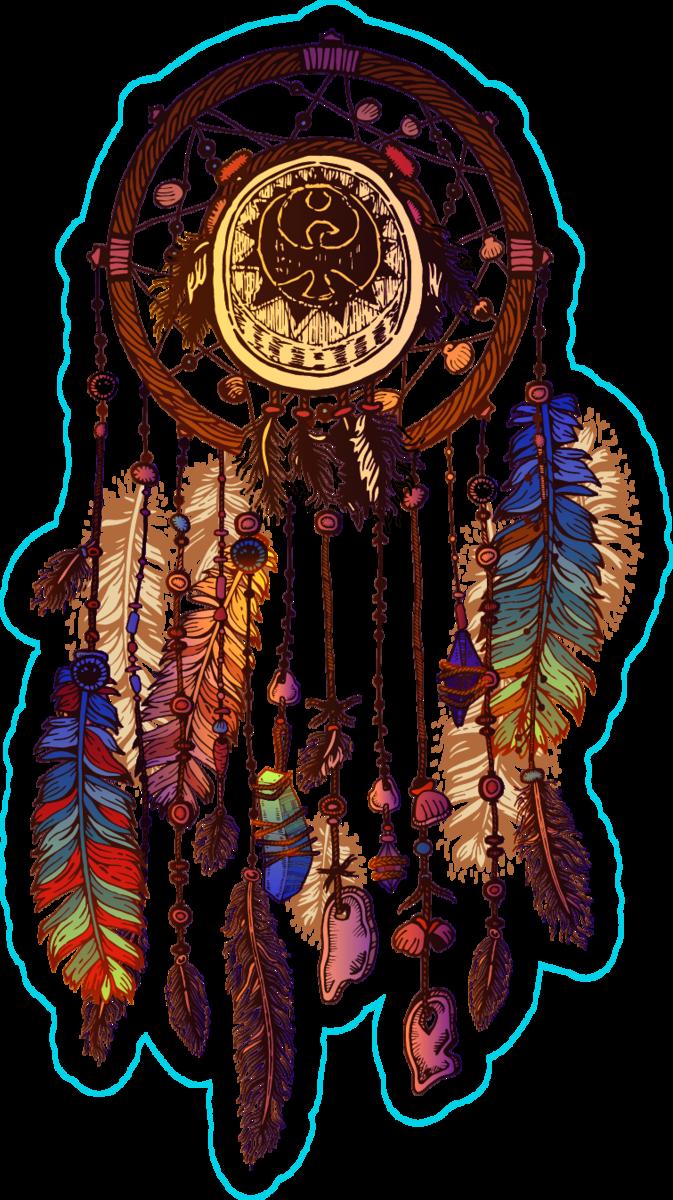 Decorated Native American Indian Dream Catcher Sticker