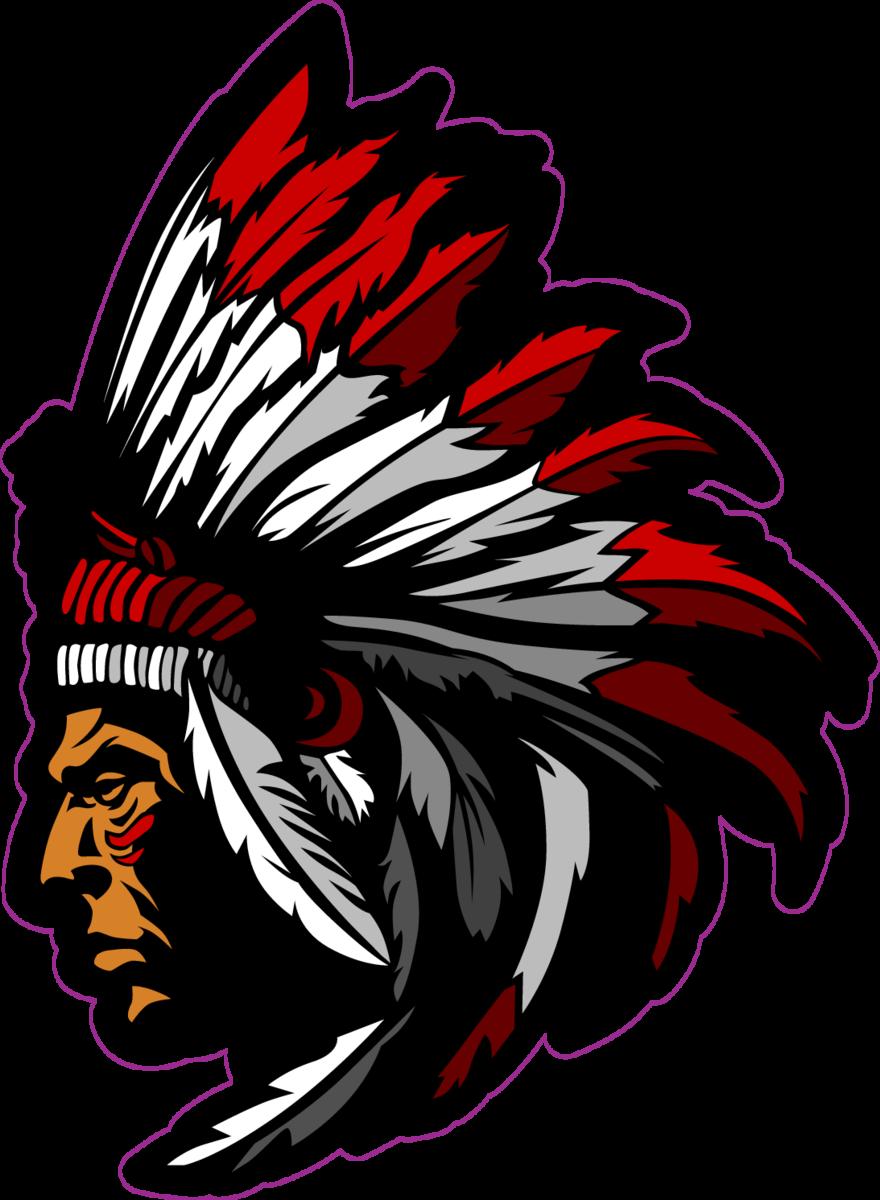 Indian Chief Mascot Sticker