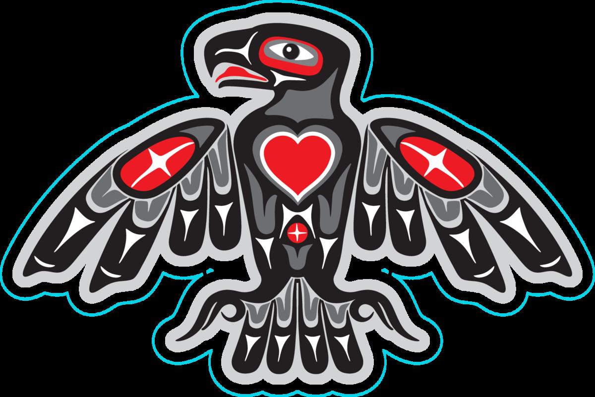 Eagle In Native Art Style Sticker