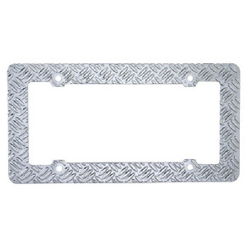 Diamond Plate Tread License Plate Frame