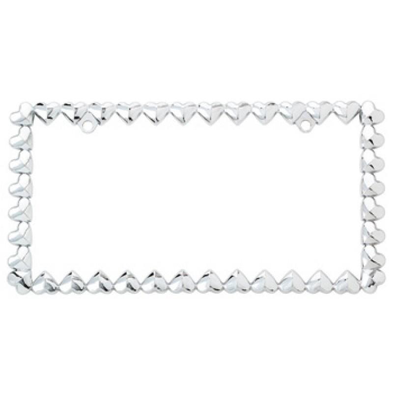 Hearts Chrome License Plate Frame