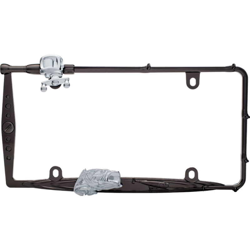 Fishing Rod and Fish License Plate Frame