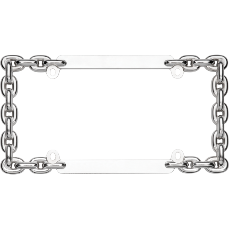 Chain Link Chrome License Plate Frame