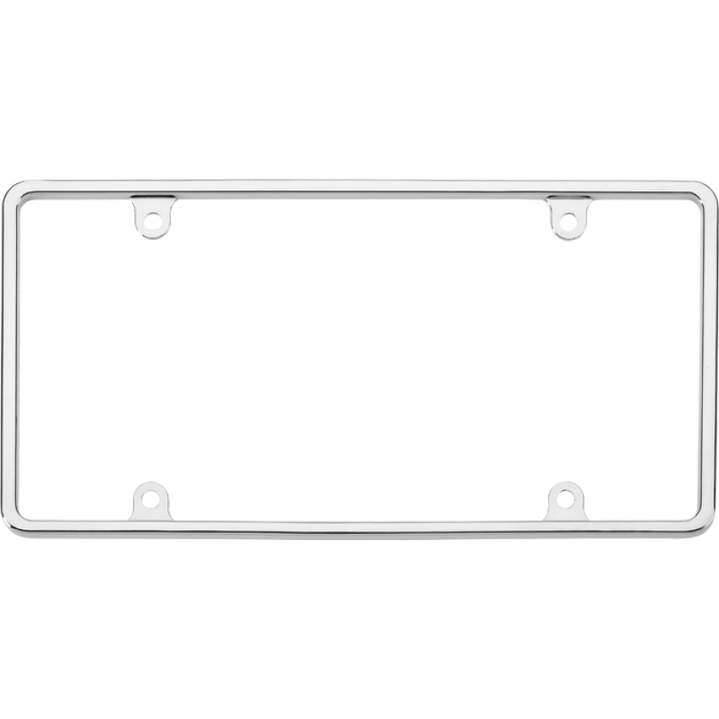 Slim Chrome Rim License Plate Frame