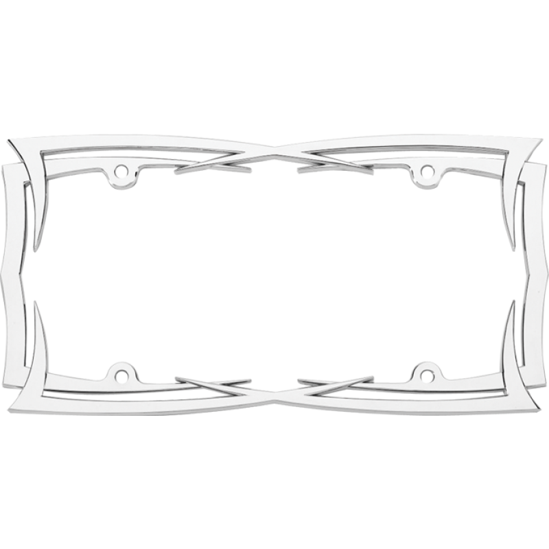 Blades Chrome License Plate Frame