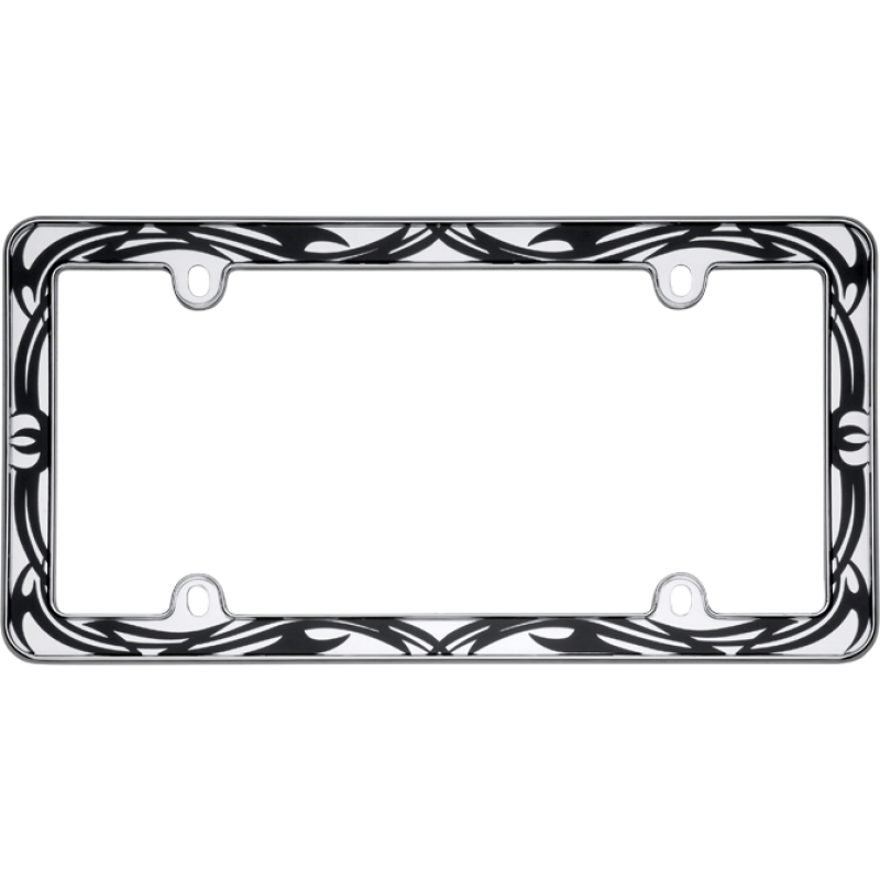 Chrome Tribal License Plate Frame