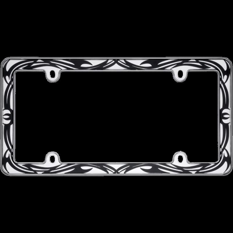 Chrome Tribal License Plate Frame