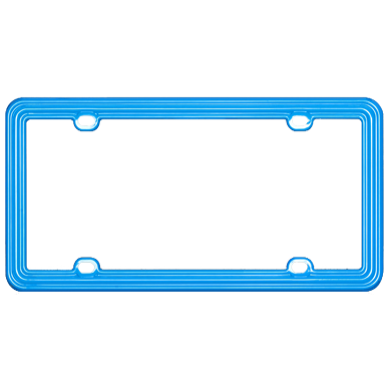 Blue Green Plastic License Plate Frame