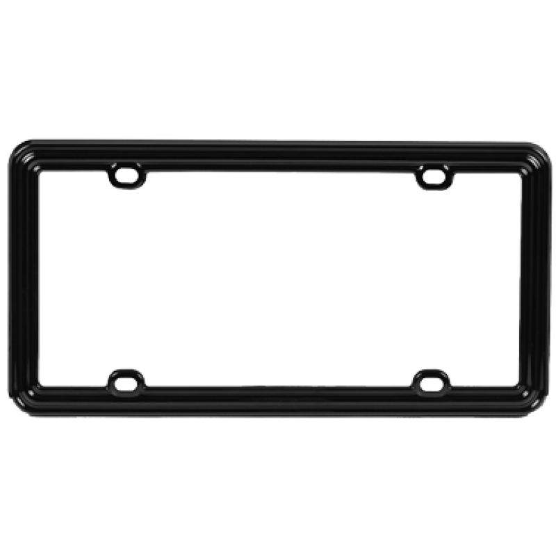 Black Plastic Designer License Plate Frame