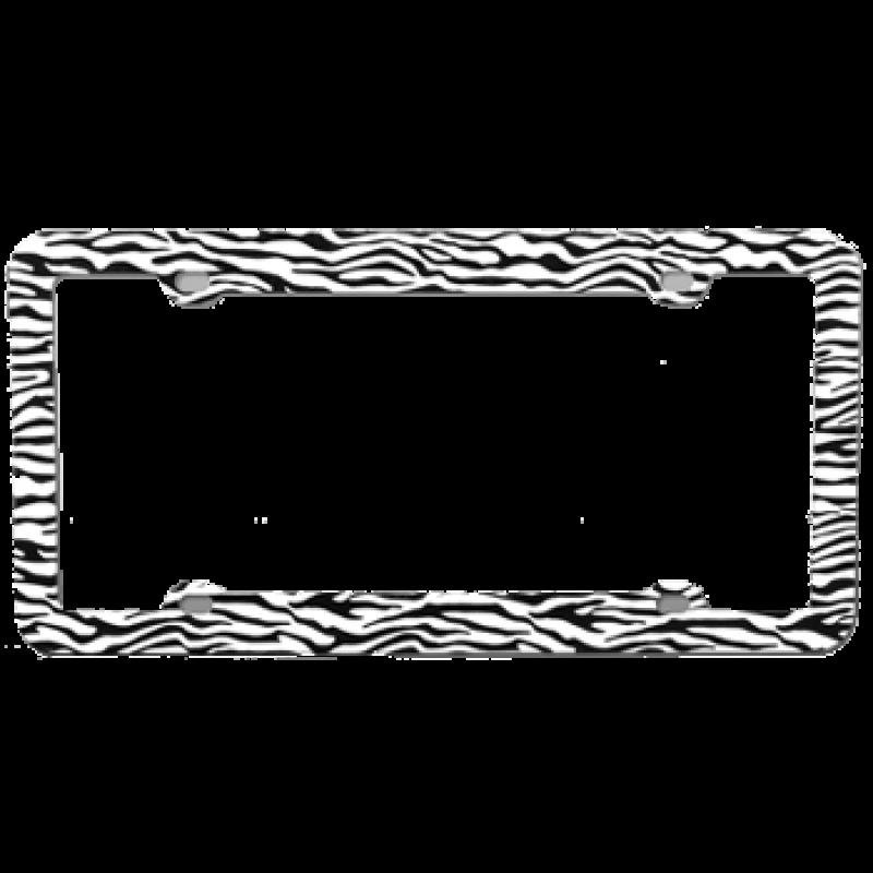 Zebra White and Black Plastic Frame