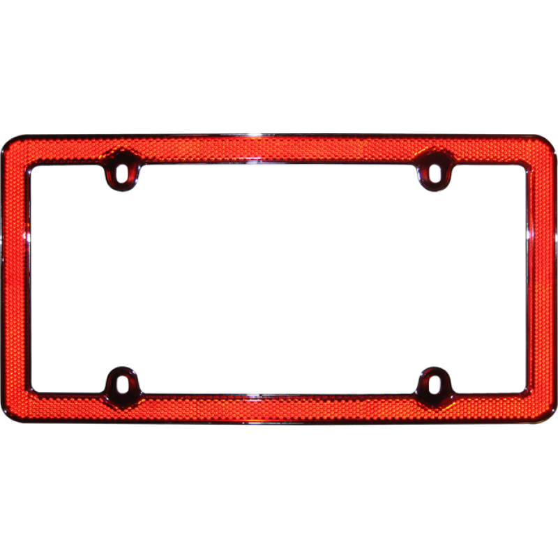 Reflector Red Plastic License Plate Frame