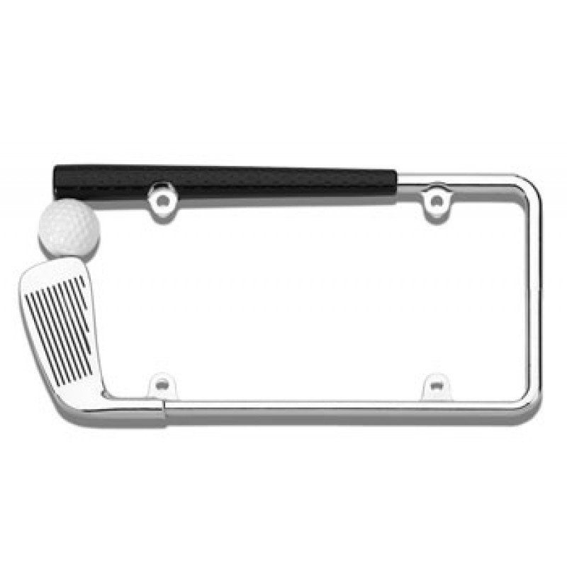 3D Chrome Golf Club License Plate Frame