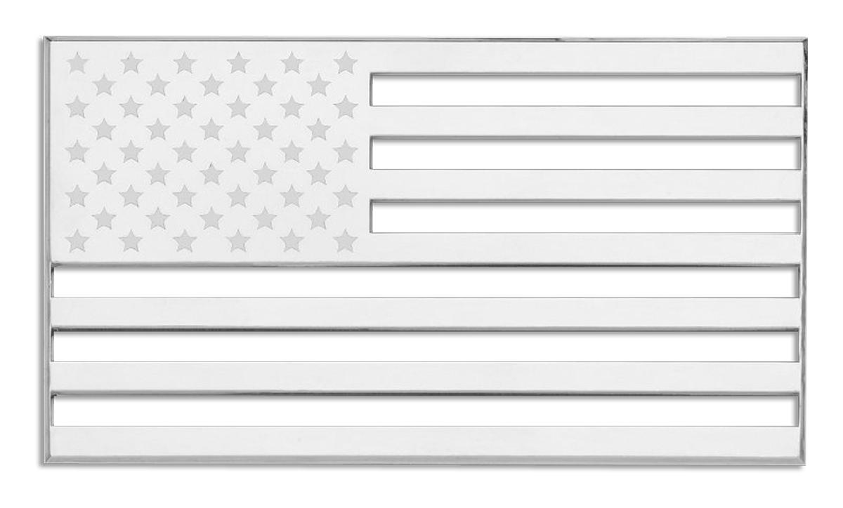 American Flag 3D Chrome Plated Sticker
