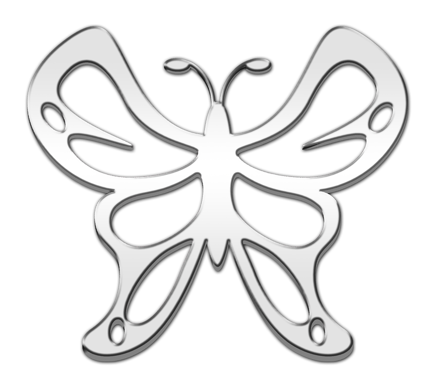 Butterfly 3D Chrome Plated Sticker