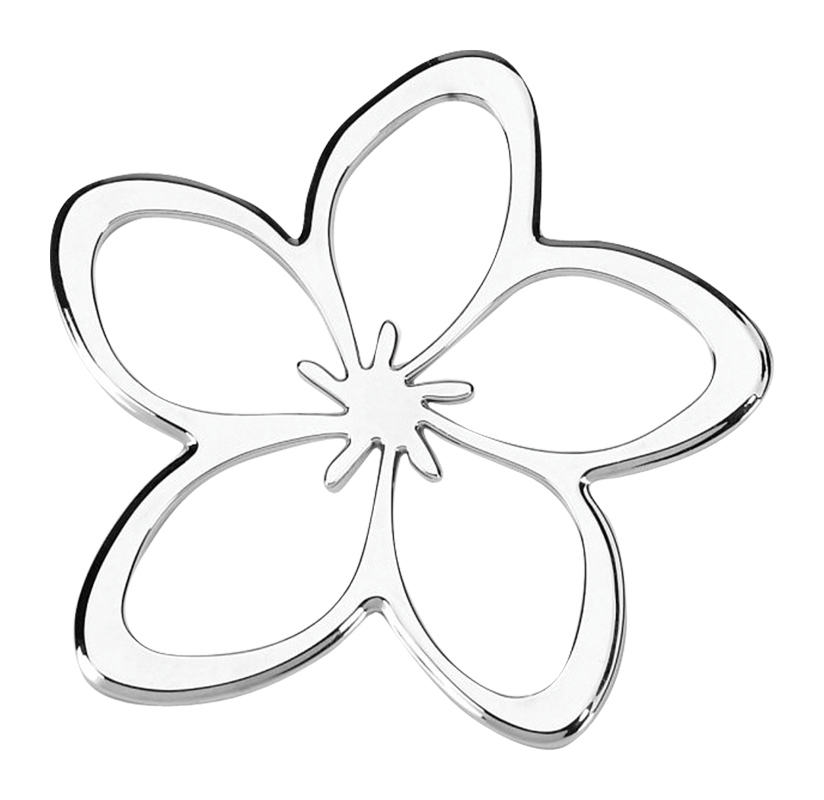 Plumeria Flower 3D Chrome Plated Sticker