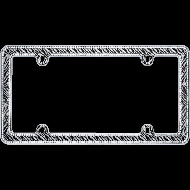 Sparkling Zebra Glitter License Plate Frame