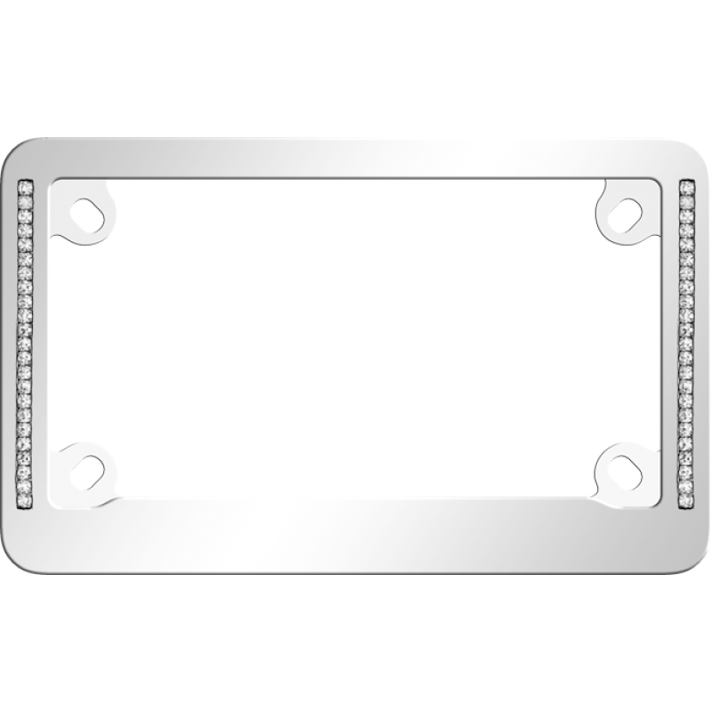 Diamond Neo Chrome Motorcycle Bling License Plate Frame