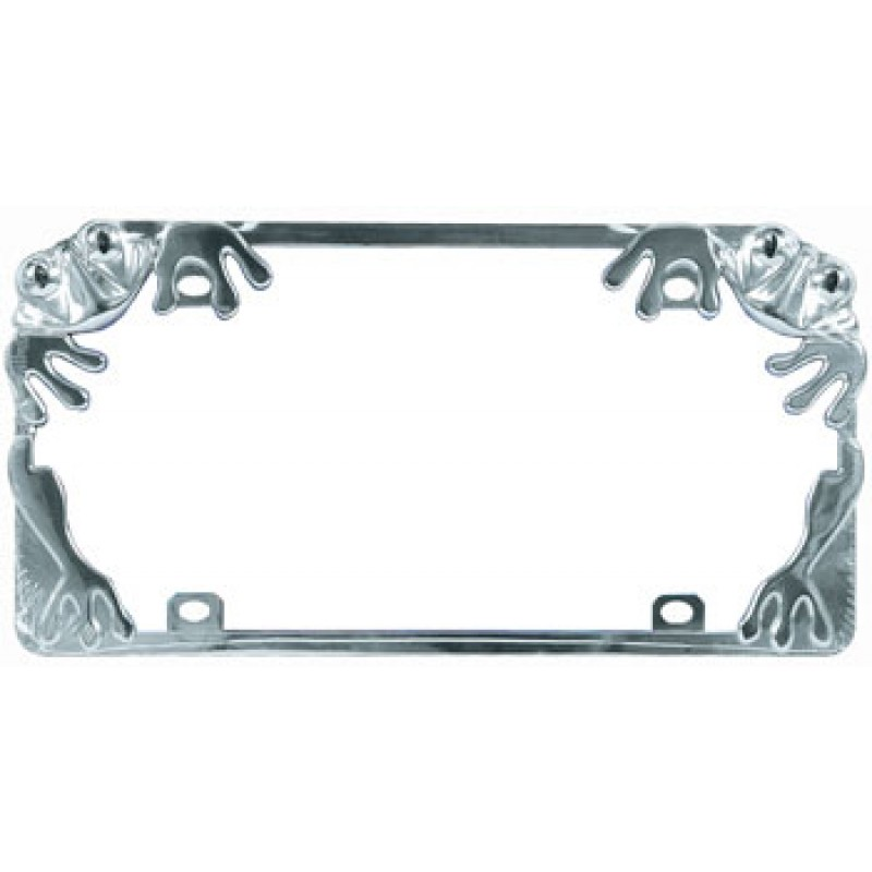 Frog Chrome Metal License Plate Frame