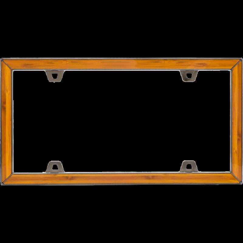 Elegant Bamboo License Plate Frame