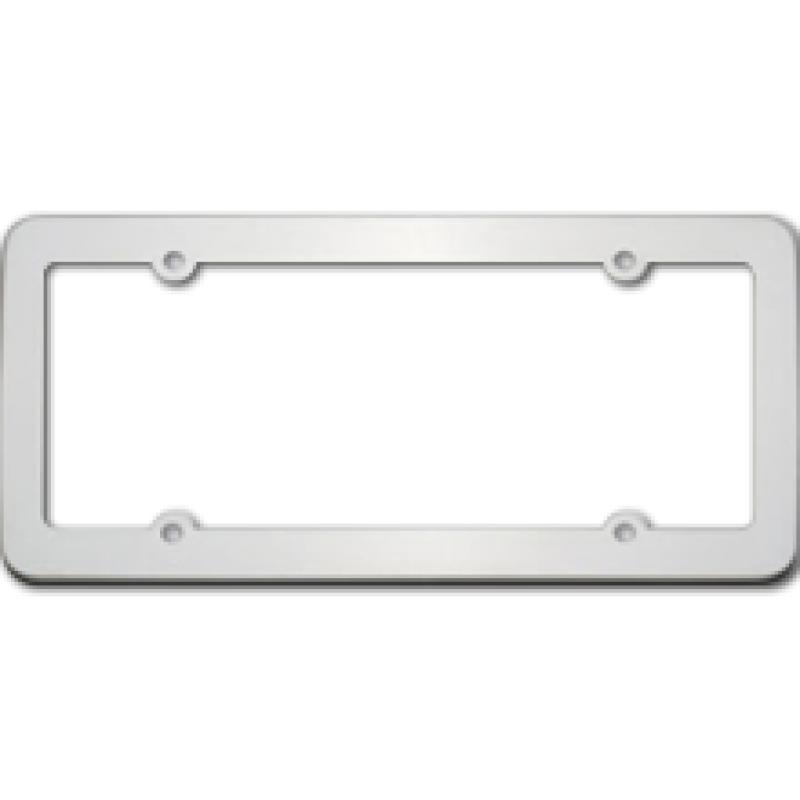 Blank Stainless Steel License Plate Frame