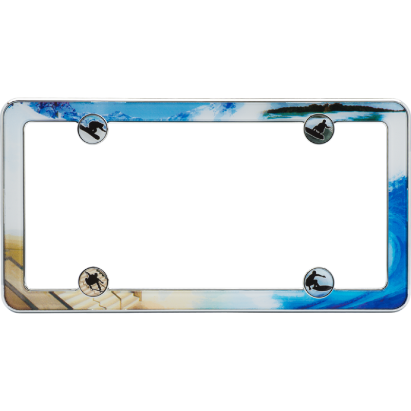 Boarding License Plate Frame
