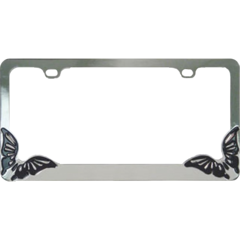 Butterfly Metal License Plate Frame