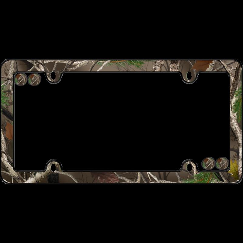 Camo Plastic License Plate Frame