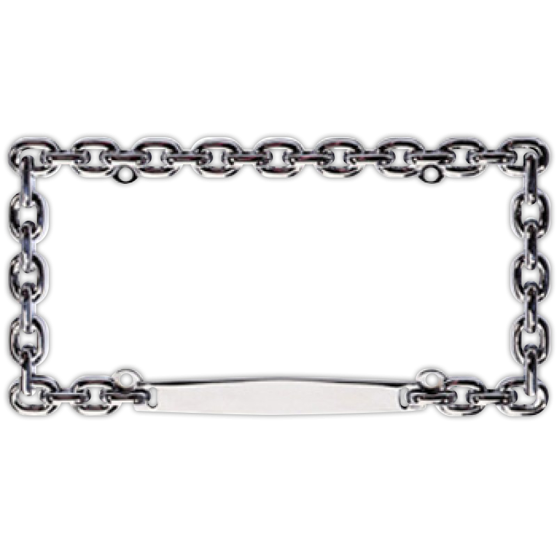 Chrome Chain Link License Plate Frame