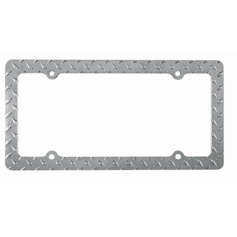 Chrome Diamond License Plate Frame