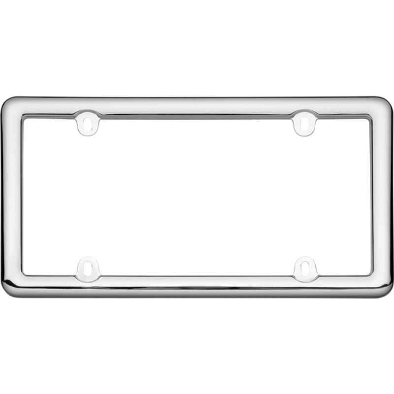 Chrome Plastic License Plate Frame