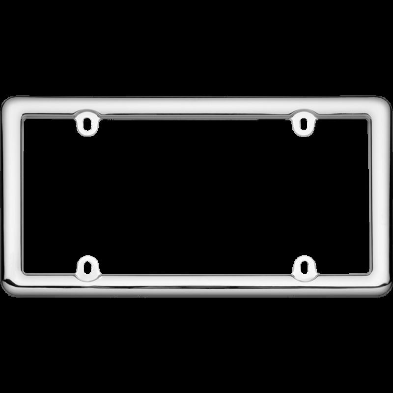 Chrome Plastic License Plate Frame