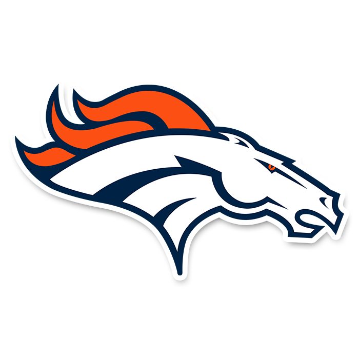 Denver Broncos NFL Logo Sticker