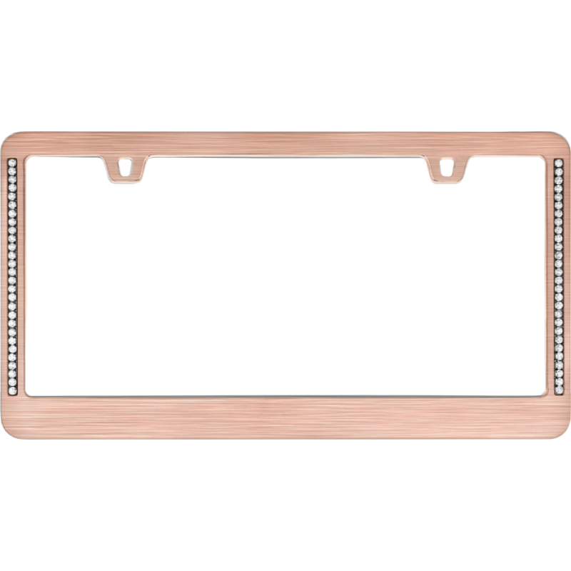 Diamond Neo Rose Gold License Plate Frame