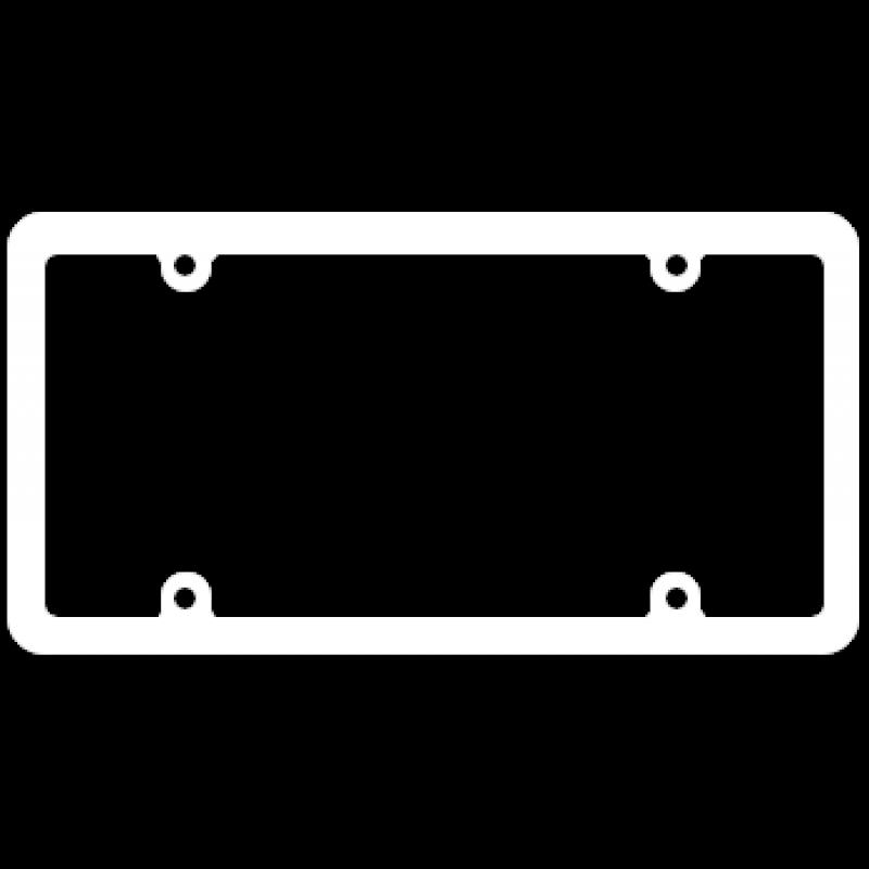 Blank Thin White Plastic Frame