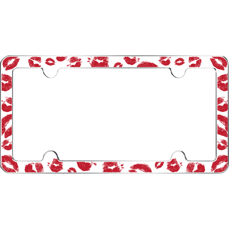 Hot Lips License Plate Frame