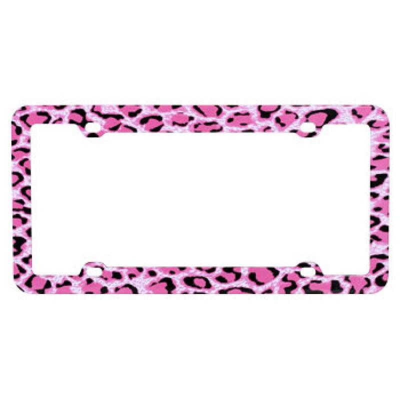 Pink Leopard Skin Plastic Frame