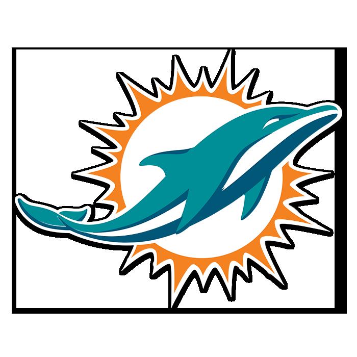 Miami Dolphins NFL Logo Sticker